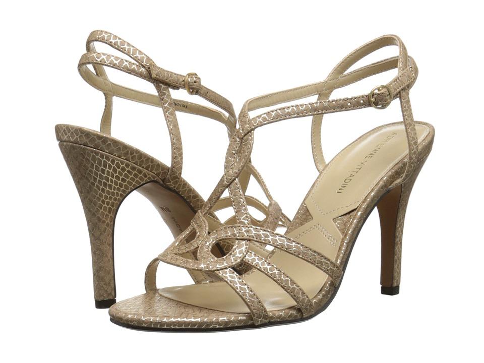 Adrienne Vittadini Grovis (Taupe Metallic) High Heels