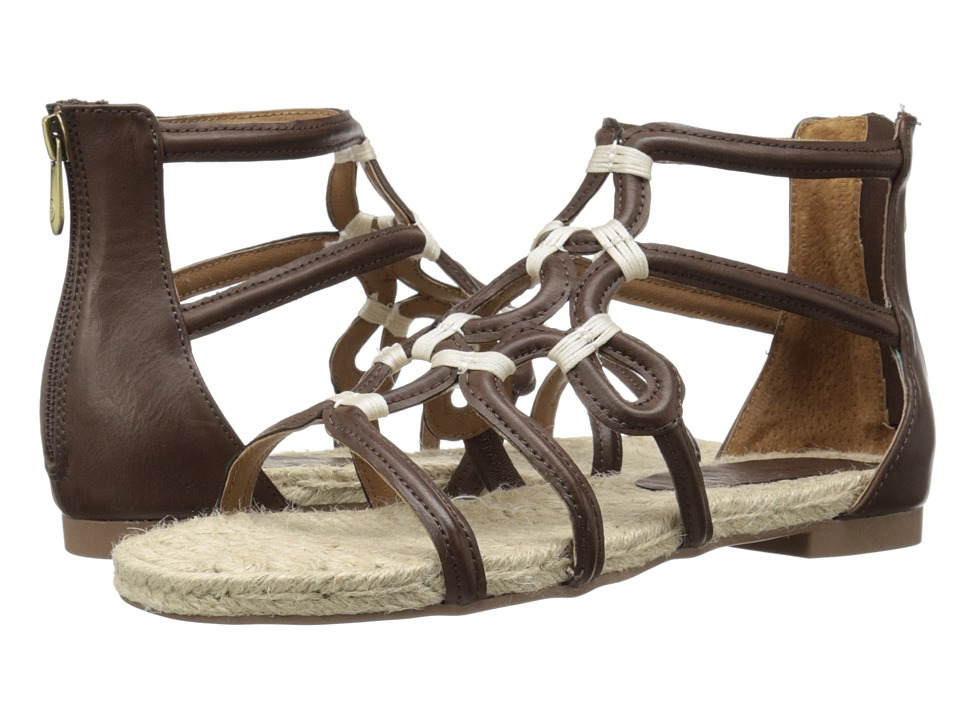 Adrienne Vittadini - Pablic (Dark Brown Distressed) Women's Sandals