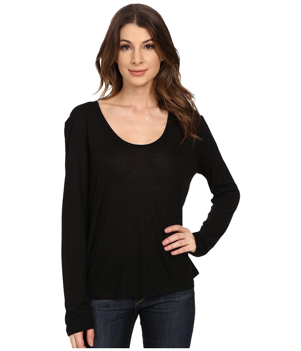 The Beginning Of - Cashmere Modal Butina Long Sleeve Tee (Black) Women's T Shirt