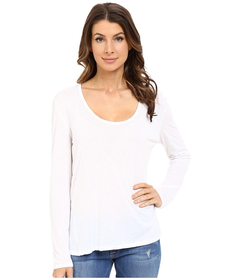 The Beginning Of - Cashmere Modal Butina Long Sleeve Tee (White) Women's T Shirt