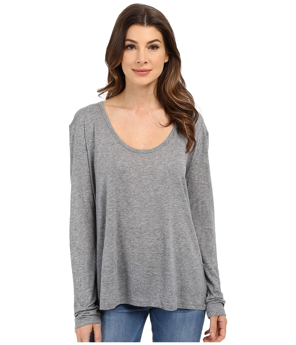 The Beginning Of - Cashmere Modal Butina Long Sleeve Tee (Heather Grey) Women's T Shirt