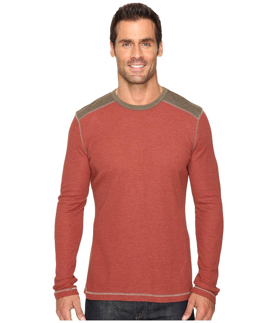Ecoths - Aaron Long Sleeve Pullover (Henna) Men's Long Sleeve Pullover