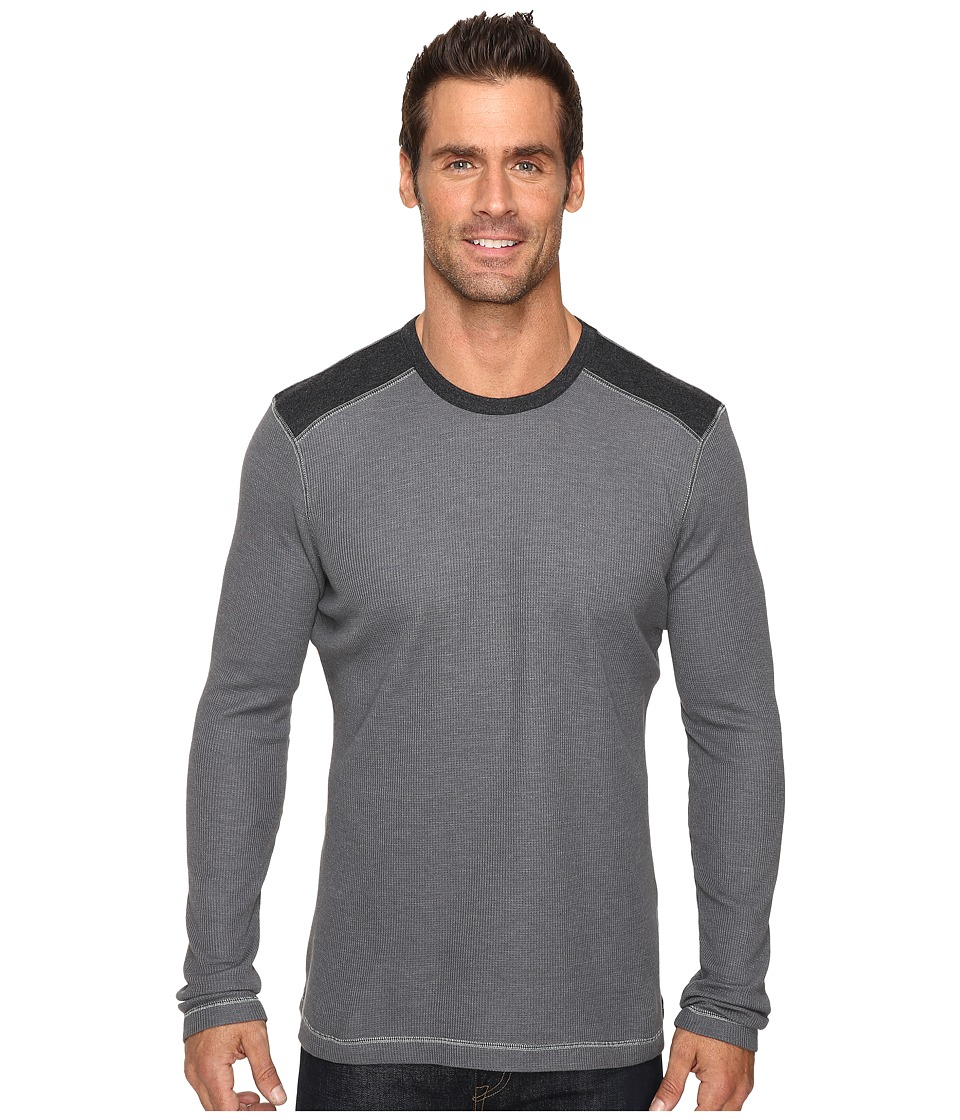 Ecoths - Aaron Long Sleeve Pullover (Ash) Men's Long Sleeve Pullover