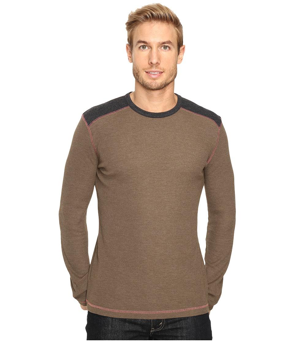 Ecoths - Aaron Long Sleeve Pullover (Tarmac) Men's Long Sleeve Pullover