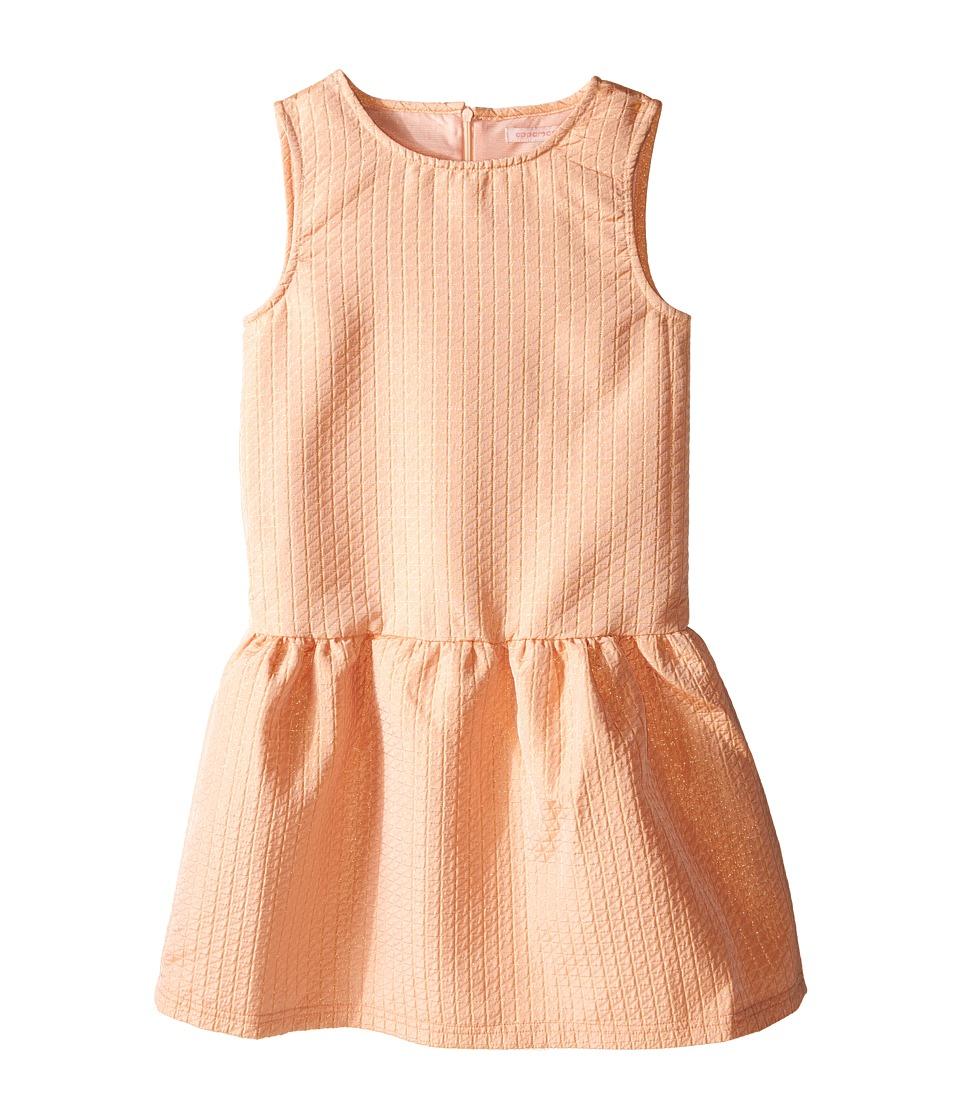 Appaman Kids - Classic Perry Drop Waist Dress with Gold Lurex Stitch Detail (Toddler/Little Kids/Big Kids) (Impatiens Pink) Girl's Dress
