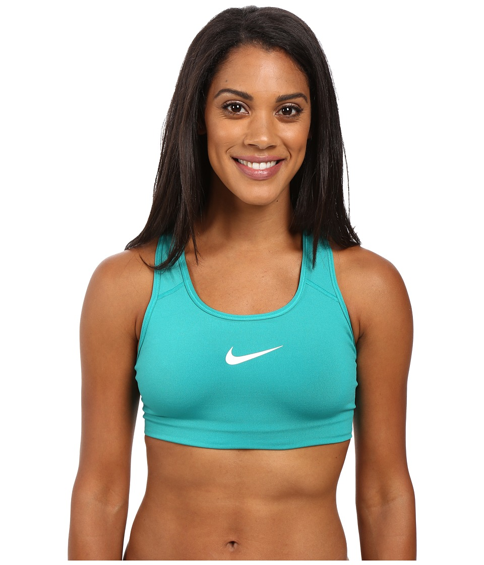 Nike - Pro Classic Swoosh Sports Bra (Teal Charge/White) Women's Bra