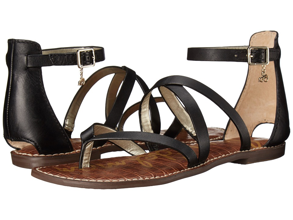 Sam Edelman - Gilroy (Black Vaquero Saddle Leather) Women's Sandals