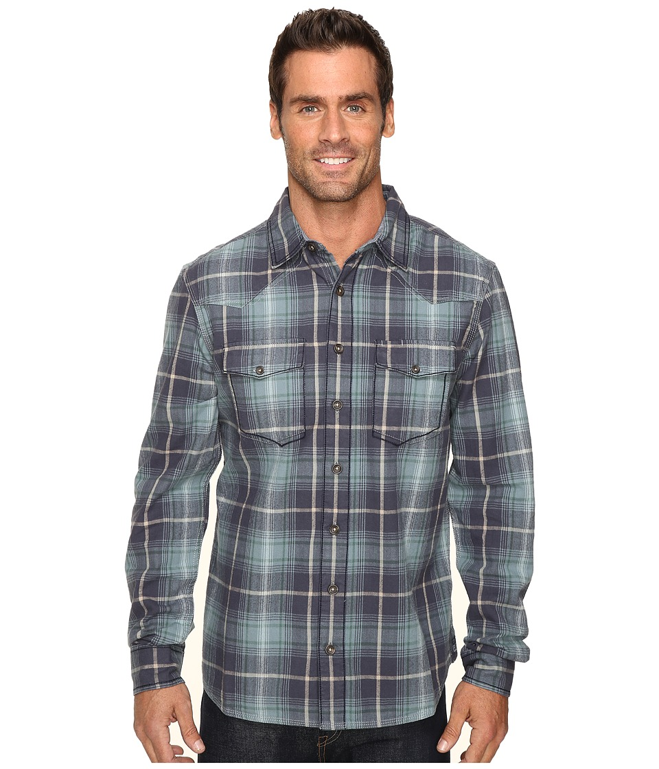 Ecoths - Tucker Long Sleeve Shirt (Ombre Blue) Men's Clothing