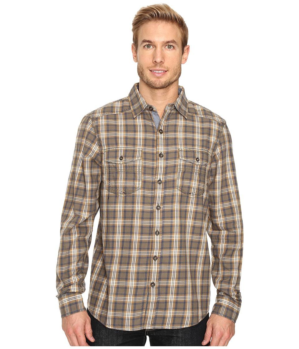 Ecoths Dax Long Sleeve Shirt (Deep Lichen Green) Men