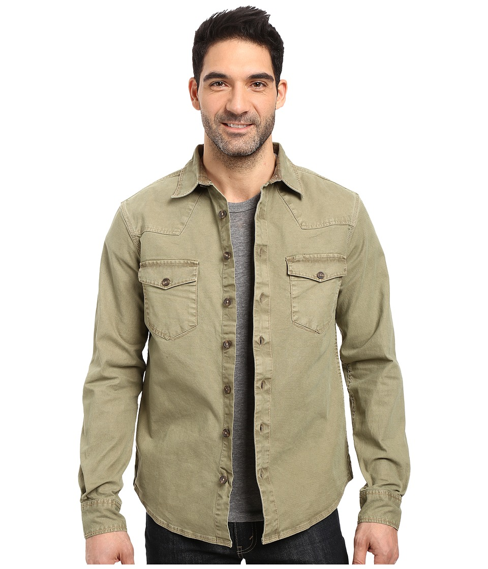 Ecoths - Brock Overshirt (Deep Lichen Green) Men's Clothing