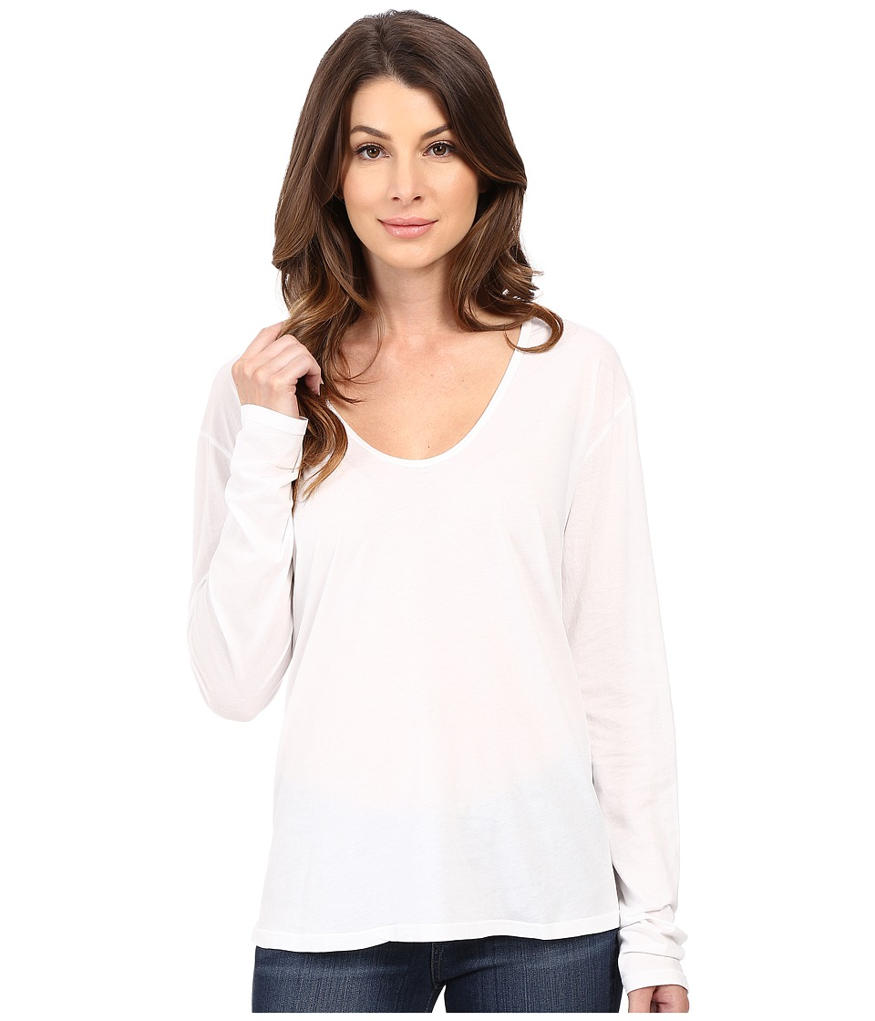The Beginning Of - Butina Long Sleeve Tee (White) Women's T Shirt