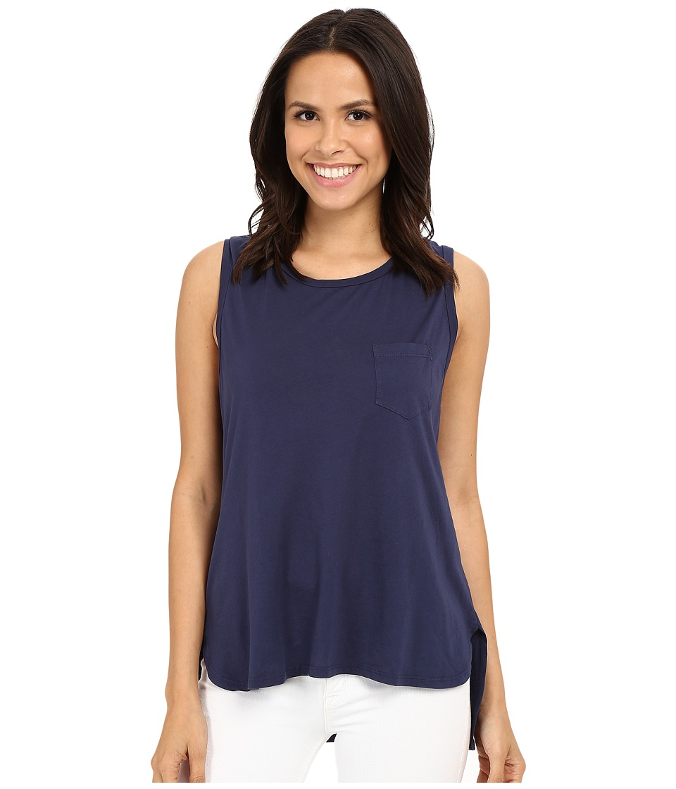 The Beginning Of - Helene Pocket Muscle Tank Top (Indigo) Women's Sleeveless
