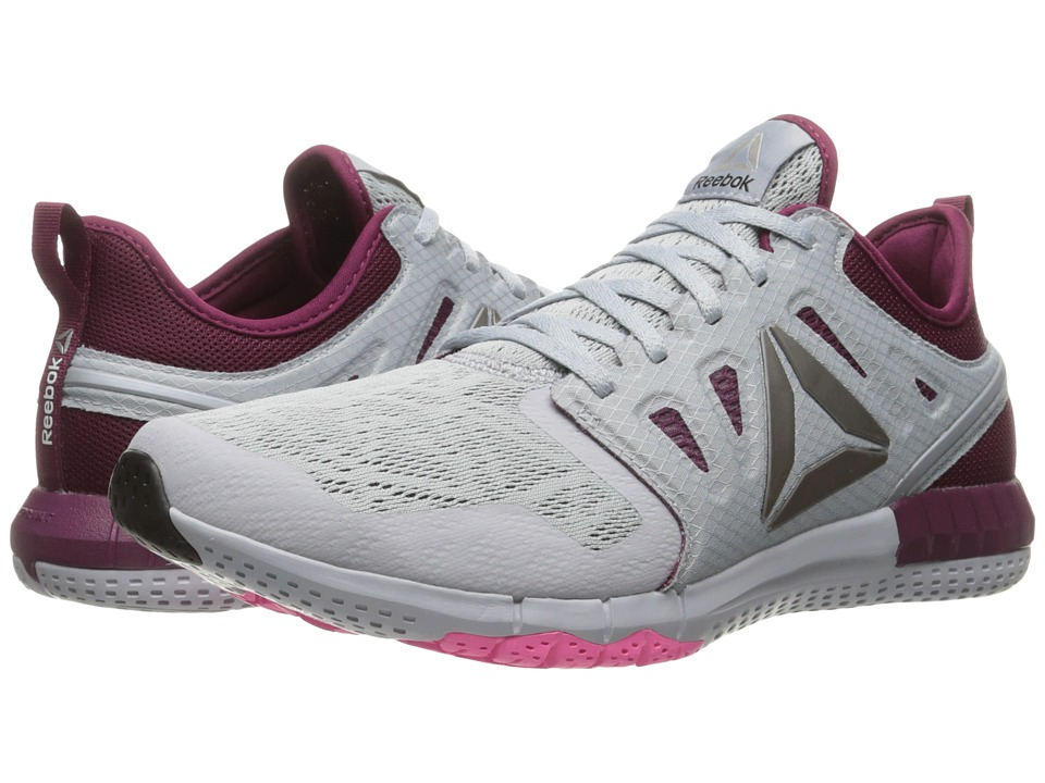 Reebok - ZPrint 3D (Cloud Grey/Rebel Berry/Poison Pink/Pewter) Women's Running Shoes