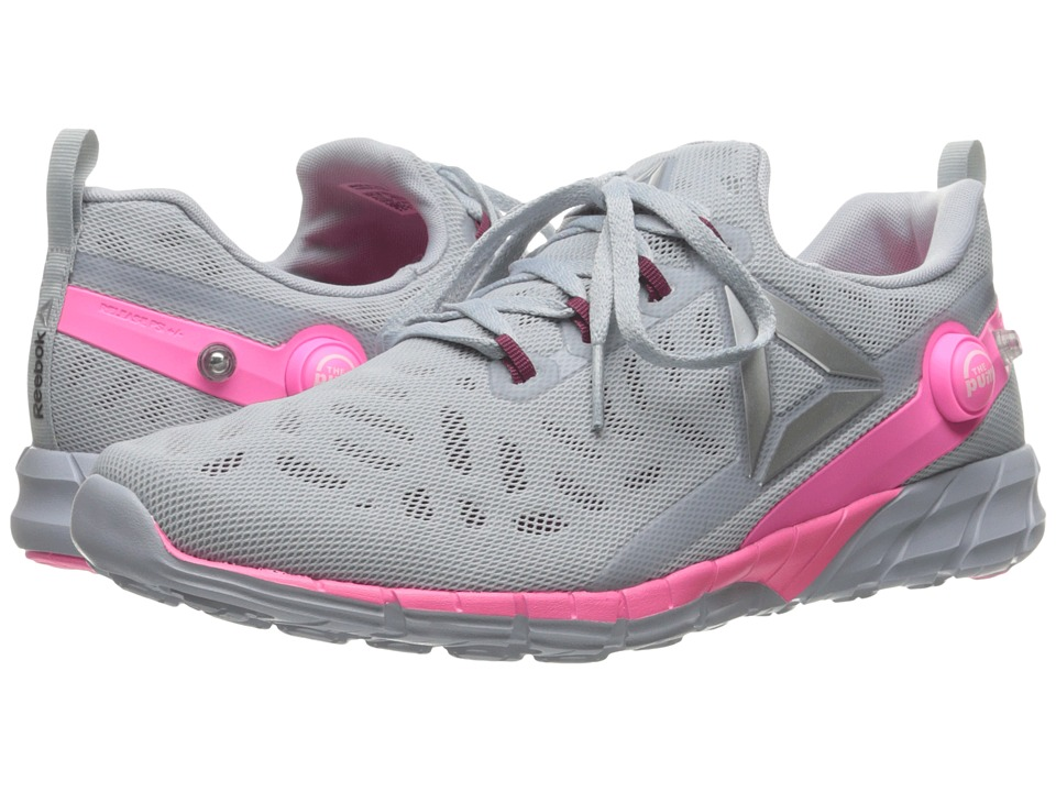 Reebok - ZPump Fusion 2.5 (Cloud Grey/Rebel Berry/Poison Pink/Silver Metallic) Women's Running Shoes
