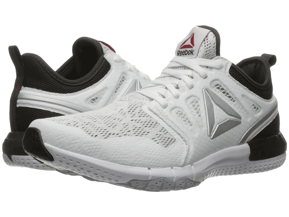 Reebok - ZPrint 3D (White/Coal/Cloud Grey/Riot Red/Silver Metallic) Women's Running Shoes