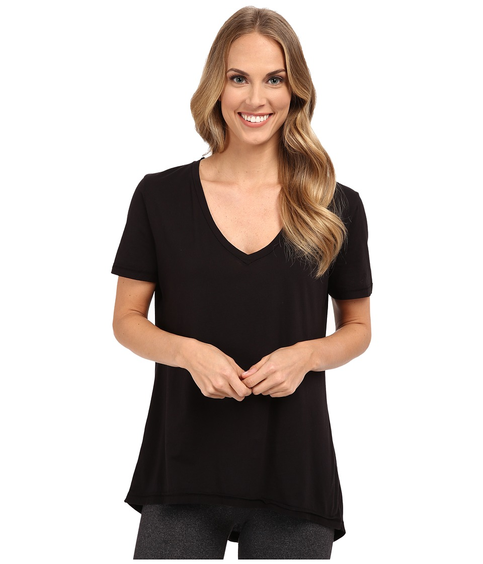 The Beginning Of - Olivia V-Neck High-Low Tee (Black) Women's Short Sleeve Pullover