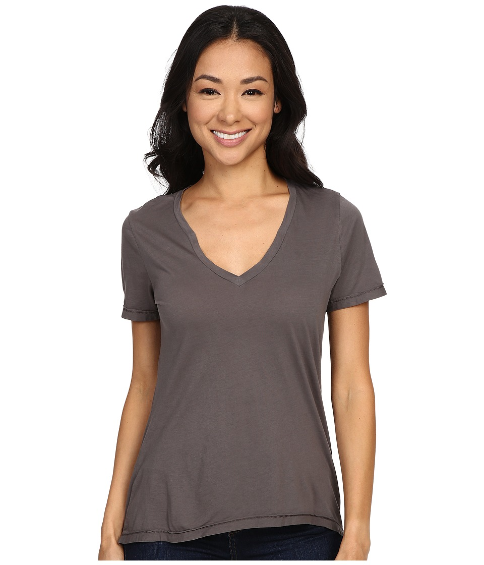 The Beginning Of - Olivia V-Neck High-Low Tee (Graphite) Women's Short Sleeve Pullover