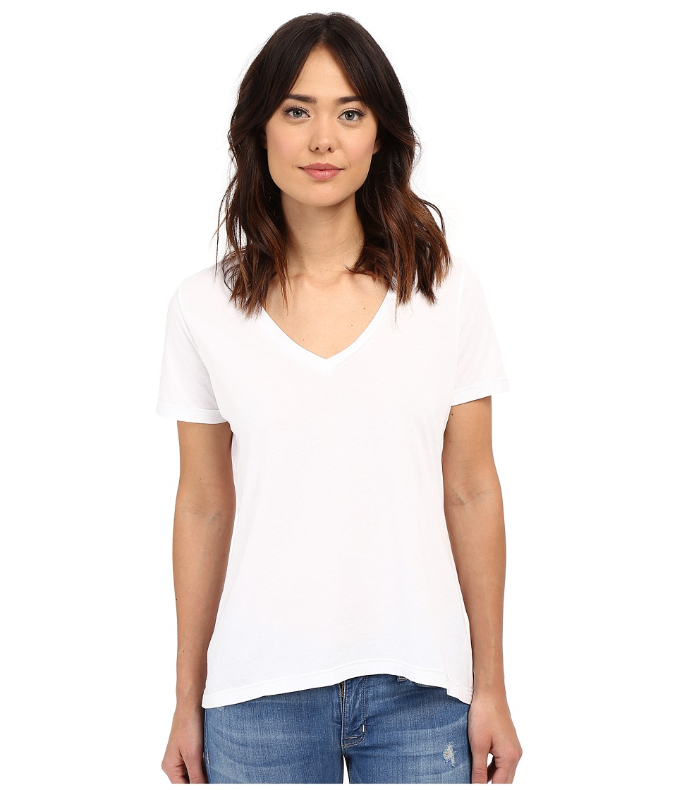 The Beginning Of - Olivia V-Neck High-Low Tee (White) Women's Short Sleeve Pullover