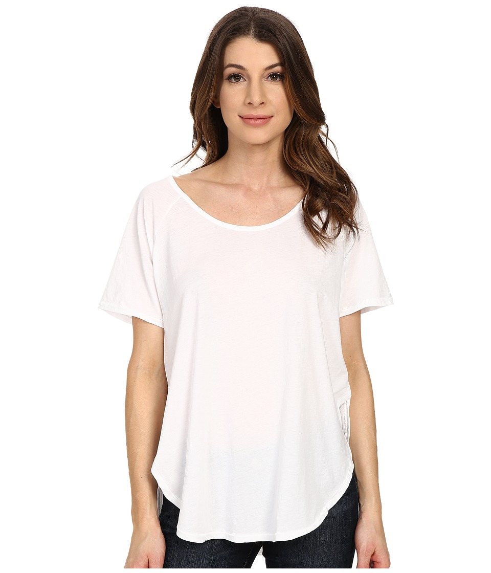 The Beginning Of - Adele Relaxed Curved Hem Tee (White) Women's T Shirt