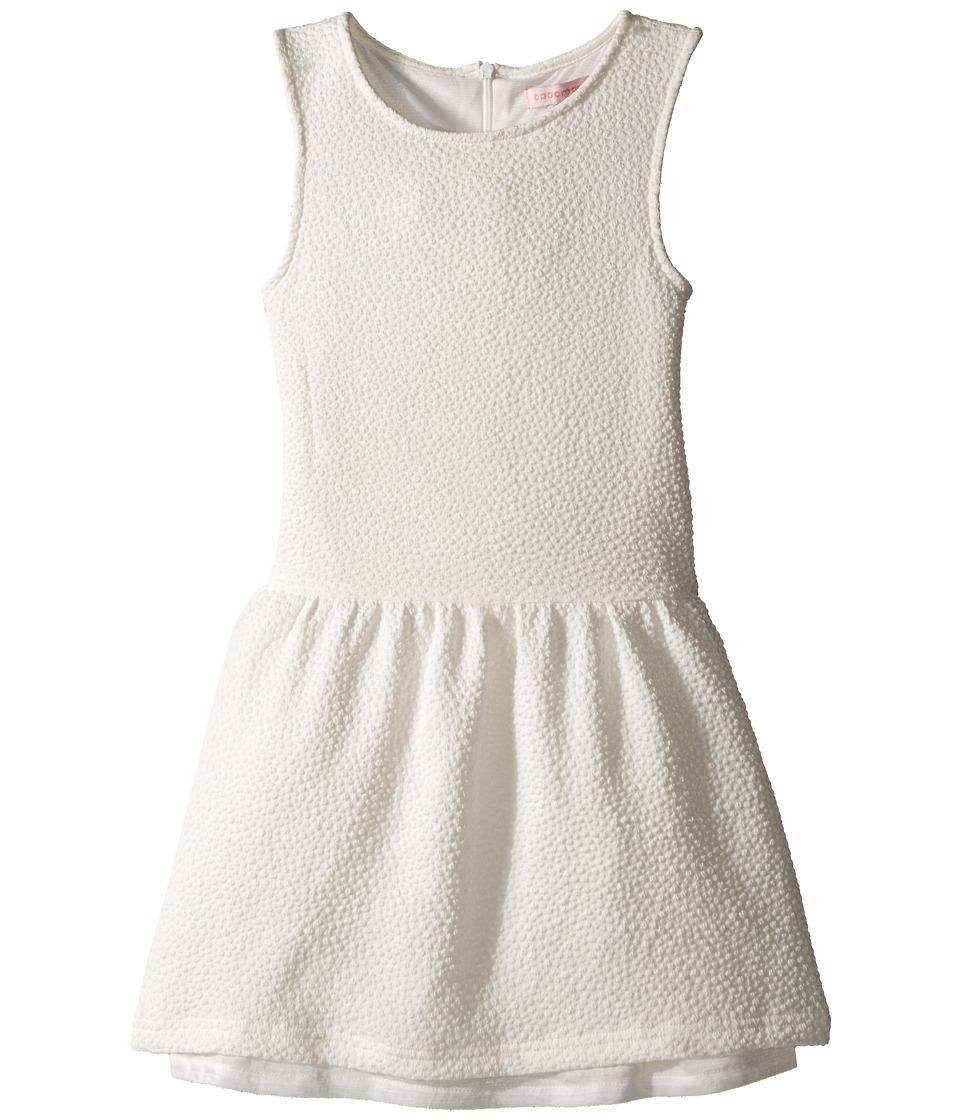 Appaman Kids - Classic Perry Drop Waist Dress with Popcorn Fabric Detail (Toddler/Little Kids/Big Kids) (Cloud Dancer) Girl's Dress