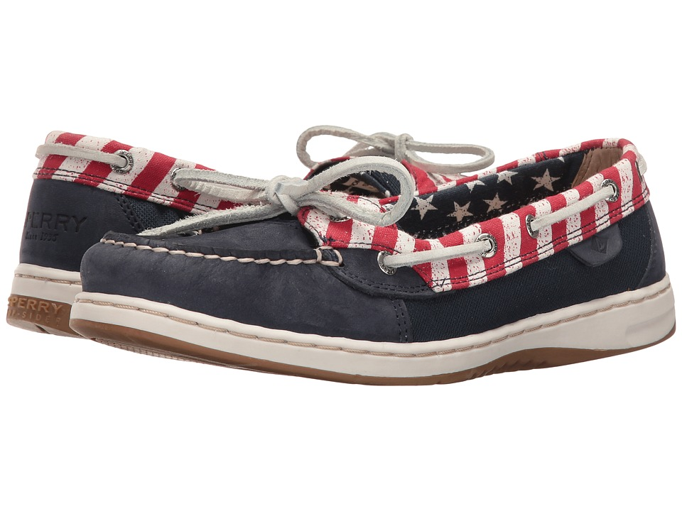 Sperry Top-Sider Angelfish Stars Stripes (Navy/Red/White) Women