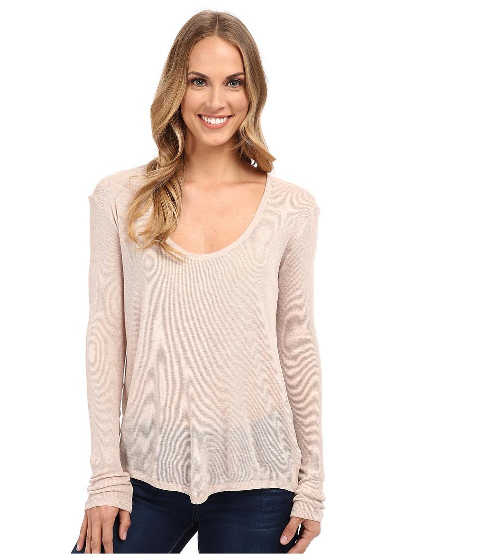The Beginning Of - Rib Cashmere Butina Long Sleeve Tee (Sand) Women's T Shirt