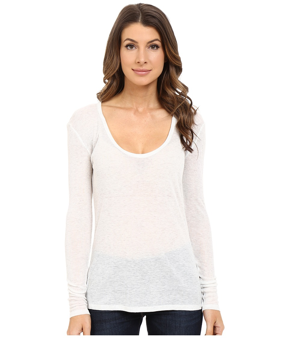The Beginning Of - Rib Cashmere Butina Long Sleeve Tee (Snow) Women's T Shirt