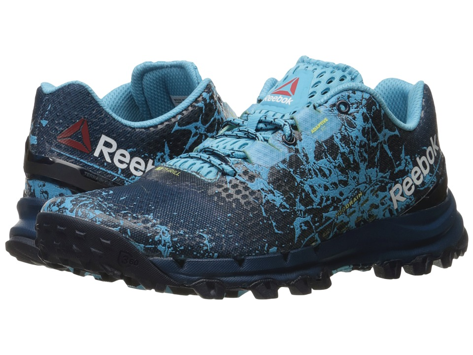 Reebok - All Terrain Thrill (Noble Blue/Collegiate Navy/Crisp Blue/Hero Yellow) Women's Climbing Shoes