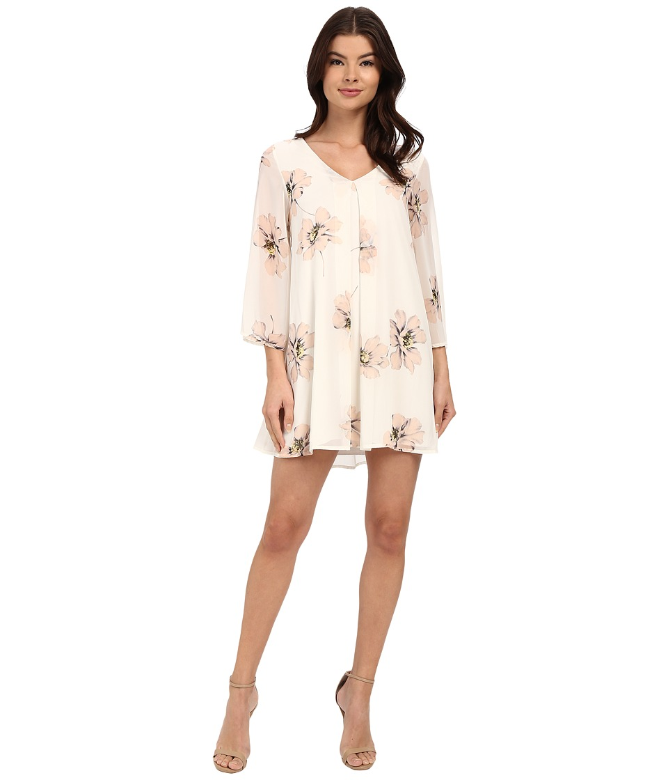 Brigitte Bailey - Ava Floral Shift Dress (Ivory) Women's Dress