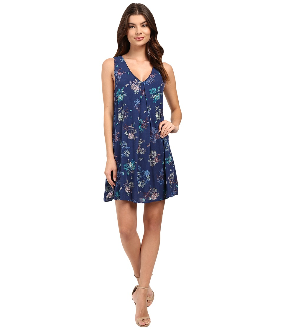 Brigitte Bailey - Glo Floral Shift Dress (Navy Floral) Women's Dress
