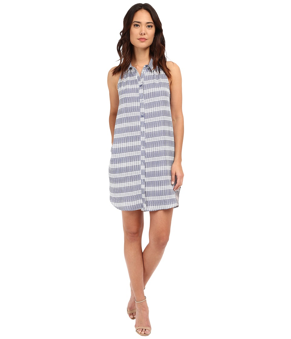 Brigitte Bailey - Ivy Striped Shirtdress (Blue Sheer Pink) Women's Dress