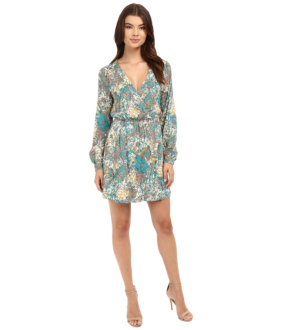 Brigitte Bailey - Mosaic Wrap Dress (Green Multi) Women's Dress