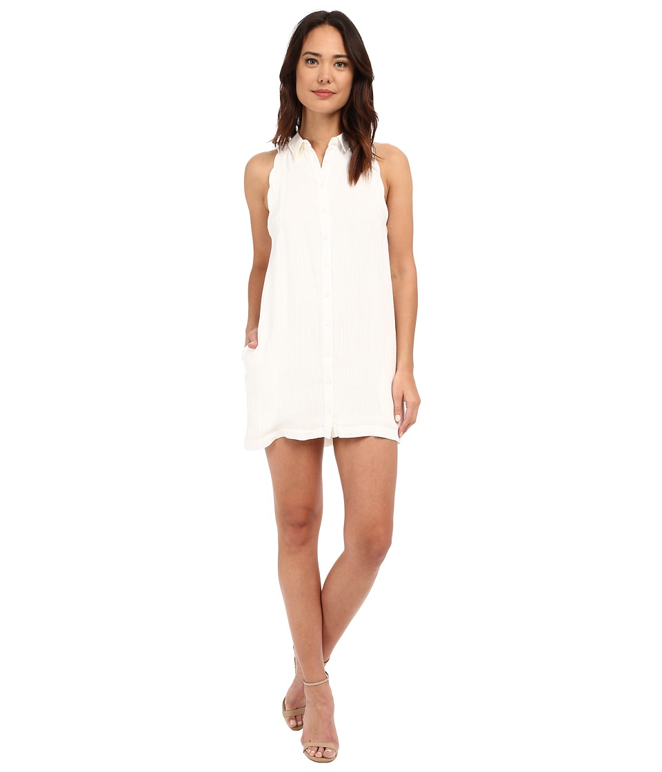 Brigitte Bailey - Emma Scalloped Shirtdress (Off-White) Women's Dress
