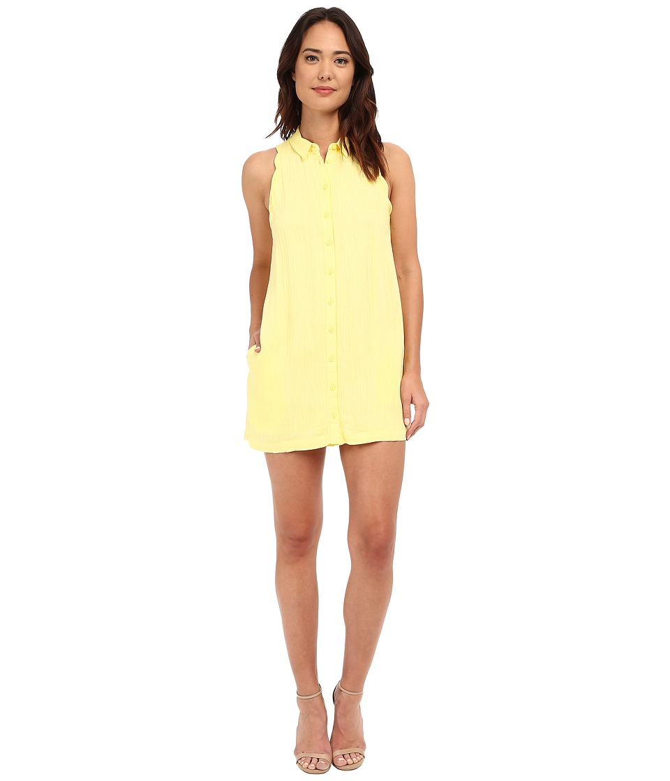 Brigitte Bailey - Emma Scalloped Shirtdress (Banana) Women's Dress
