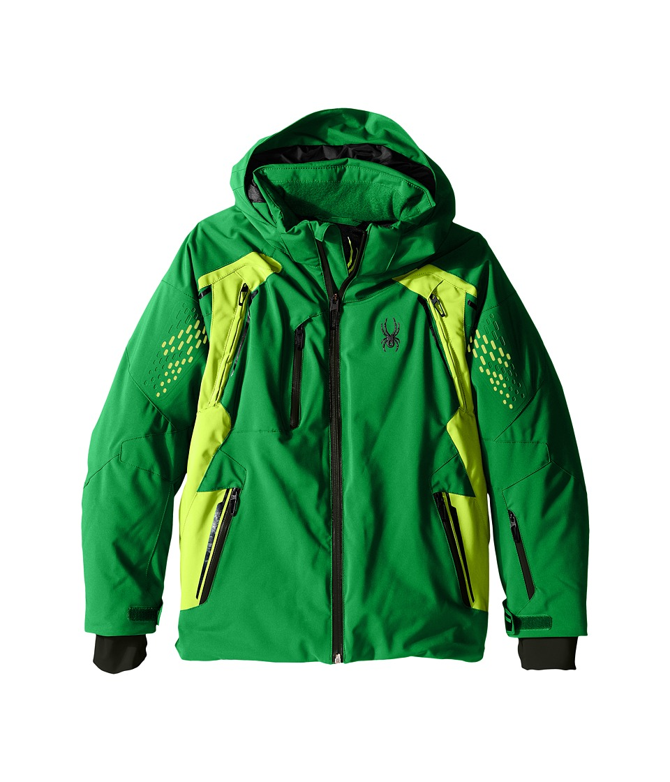 Spyder Kids - Vail Jacket (Big Kids) (Jungle/Bryte Green/Black) Boy's Coat