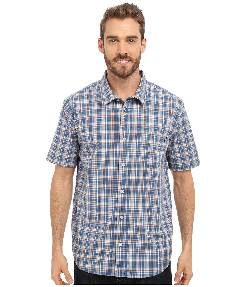 Jack O'Neill - Parker Woven (Dark Blue) Men's Short Sleeve Button Up