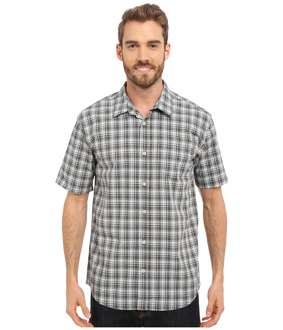 Jack O'Neill - Parker Woven (Dark Charcoal) Men's Short Sleeve Button Up