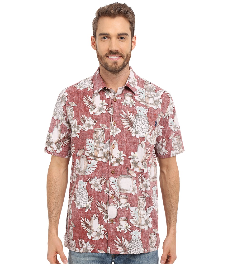 Jack O'Neill - Mixology Woven (Burgundy) Men's Short Sleeve Button Up
