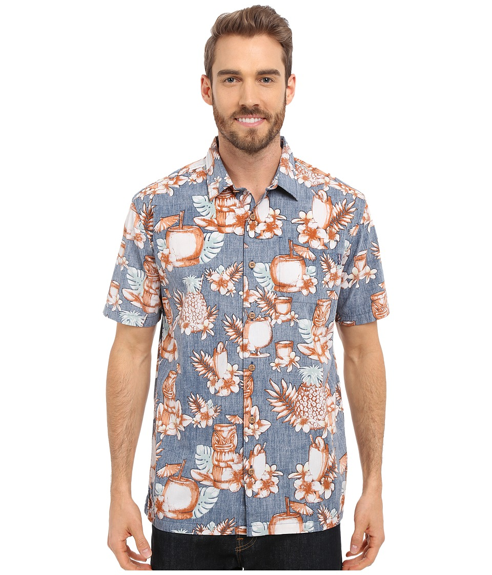 Jack O'Neill - Mixology Woven (Navy) Men's Short Sleeve Button Up