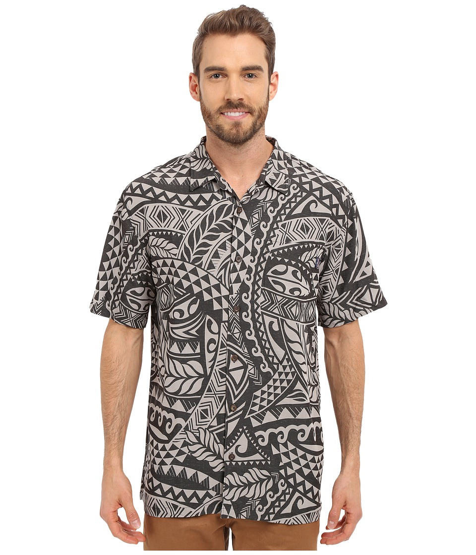 Jack O'Neill - Anapa Woven (Charcoal) Men's Short Sleeve Button Up