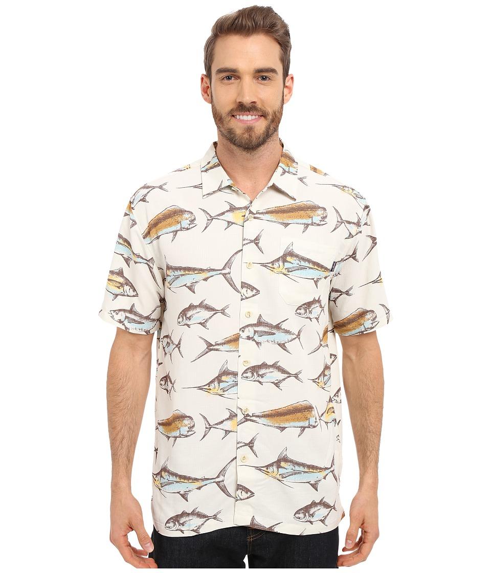 Jack O'Neill - Deep Water Woven (Natural) Men's Short Sleeve Button Up