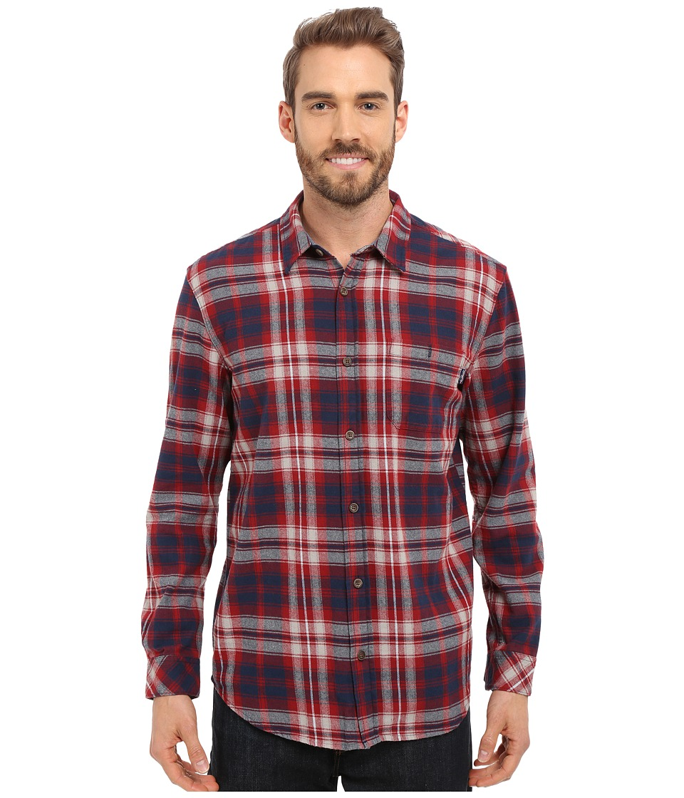 Jack O'Neill - Kingsbay Woven (Red Brick) Men's Long Sleeve Button Up