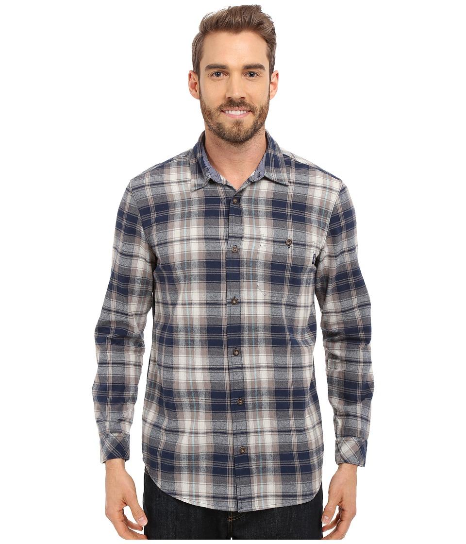 Jack O'Neill - Kingsbay Woven (Navy) Men's Long Sleeve Button Up