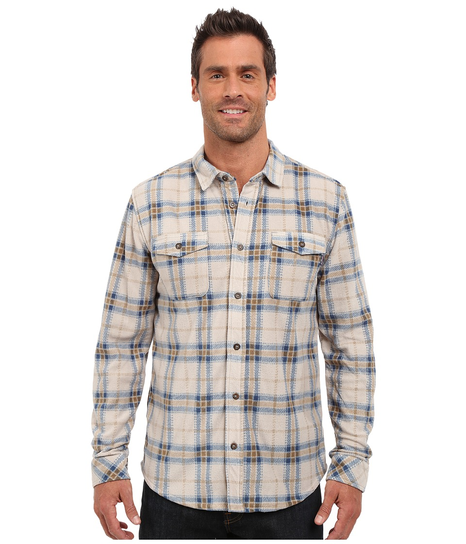 Jack O'Neill - Poseidon Woven (Stone) Men's Long Sleeve Button Up