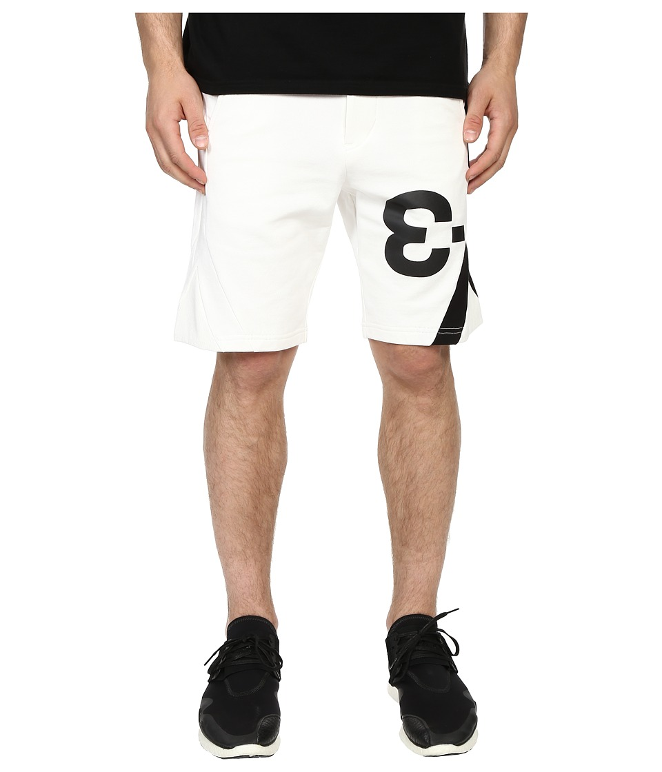 adidas Y-3 by Yohji Yamamoto - Logo Shorts (Core White) Men's Shorts