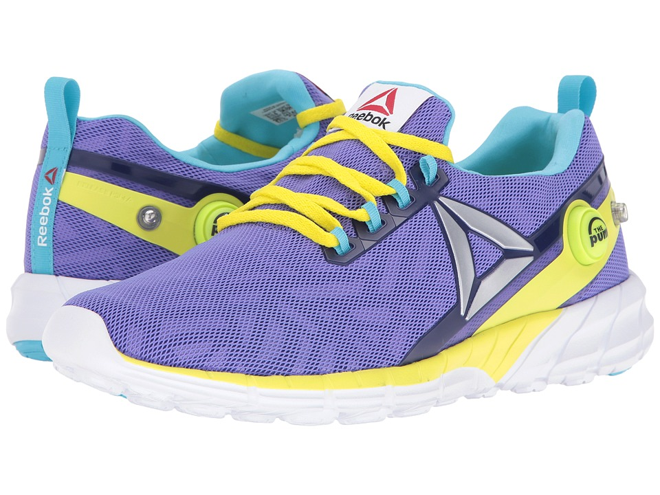 Reebok Kids - ZPump Fusion 2.5 (Little Kid/Big Kid) (Ultima Purple/Pigment Purple/Hero Yellow/Blue/White) Girls Shoes