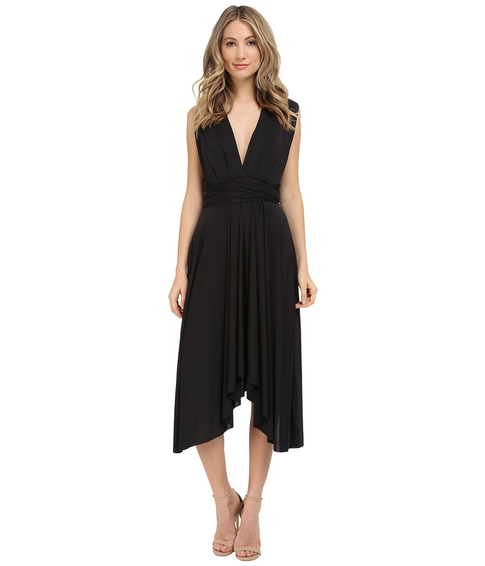 rsvp - Convertible Butterfly Sleeve Dress (Black) Women's Dress