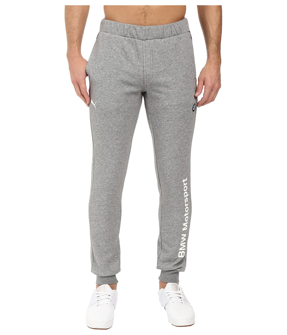 PUMA - BMW MSP Sweat Pants Closed (Medium Gray Heather) Men's Casual Pants