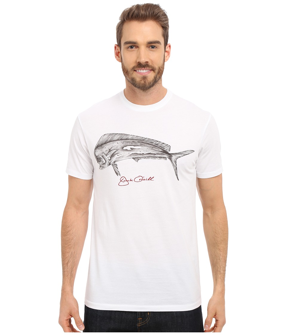 Jack O'Neill - Rooster Short Sleeve Screen Tee (White) Men's T Shirt