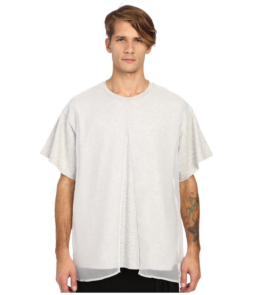 D.GNAK - Front Layered T-Shirt (Grey) Men's T Shirt